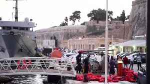 Ocean Viking migrants disembark in Malta, but others remain onboard [Video]