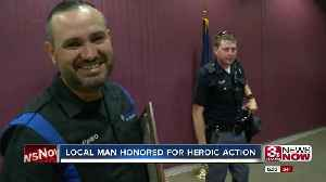 Local Man Honored for Heroic Action [Video]