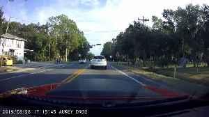 Dashcam Captures Twin Brother's Accident [Video]