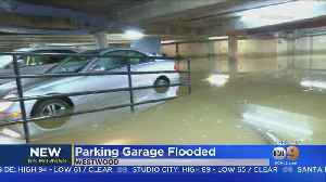 Burst Water Pipe Floods Garage, Submerges Cars [Video]