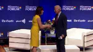 'A Real Sweetheart': Biden Accused of Making Condescending Remark to LGBTQ Presidential Forum Moderator [Video]