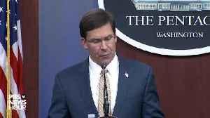 Mark Esper extended statement [Video]