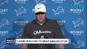 News video: Lions beat Eagles 27-24