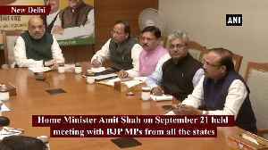 Amit Shah, BJP MPs discuss plans for Mahatma Gandhi's birth anniversary [Video]