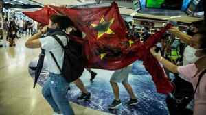 Hong Kong protests: China flag trampled [Video]