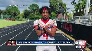 Family, friends praying for Northeast High football player in ICU from brain condition [Video]