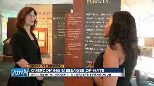 'It isn't a shock anymore': Racine synagogue is the latest target of anti-Semitic graffiti [Video]