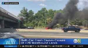 Tractor-Trailer Crash Snarls Traffic On I-78 [Video]