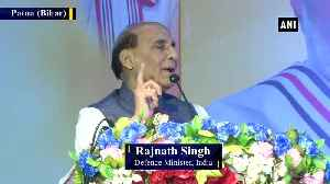Article 370 gave birth to terrorism in Kashmir Rajnath Singh [Video]