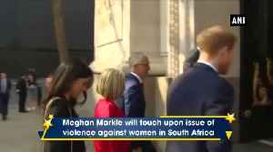 Meghan Markle to speak about violence against women in South Africa [Video]