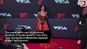 News video: Halsey performs during Emmys In Memoriam