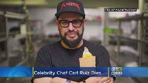 News video: Celebrity Chef Carl Ruiz Dead At 44, Last Tweets Feature Maryland Eateries