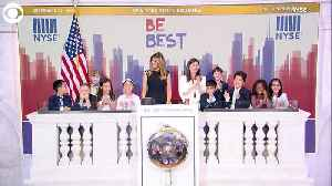 WEB EXTRA: Melania Trump Rings Opening Bell [Video]