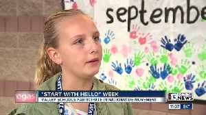 Middle school students participate in 'Start with Hello' week [Video]