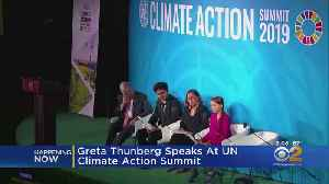 News video: Greta Thunberg Speaks At UN Climate Action Summit