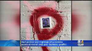 Anonymous Tip Leads To Arrests For Anti-Semitic, Racist Graffiti At Fort Revere In Hull [Video]