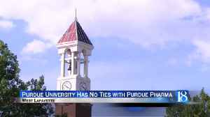 Purdue University wants to remind the public they are not affiliated with Purdue Pharma [Video]