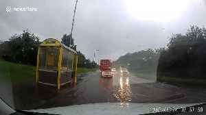 Flash flood leaves UK road deluged [Video]