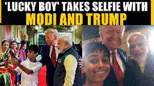 PM Modi and Pres Trump pose for a selfie with a young boy, Video goes viral | OneIndia News [Video]
