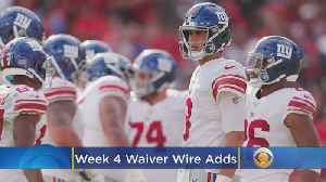 Fantasy Football Waiver Wire Week 4 [Video]