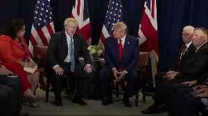 Donald Trump tells Boris Johnson: You are going to win [Video]