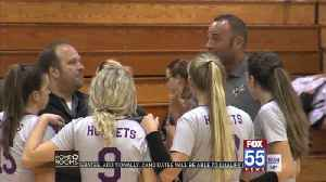 High School Volleyball: Angola Handles Homestead in Four Sets [Video]
