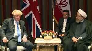 Boris Johnson meets Iranian president [Video]