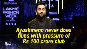 Ayushmann never does films with pressure of Rs 100 crore club [Video]