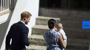 Baby Archie makes first public appearance as royals meet Archbishop Tutu [Video]