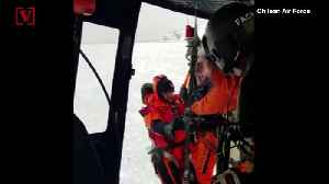 Caught on Camera! Helicopter Rescue of Scientists Stranded in Antarctic Waters [Video]