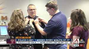 After beating terminal cancer, Merriam officer becomes police chief [Video]