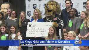 LA Kings Make Anti-Violence Donation To Sandy Hook Promise [Video]