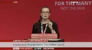 Labour Party Conference - Candidates Debating Motion 20 [Video]