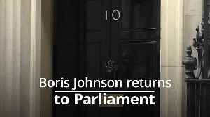 Boris Johnson: Protesters hurl abuse at PM on his return to Parliament [Video]