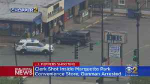 Shooting Inside Store Leads To Standoff In Marquette Park, 1 In Custody [Video]