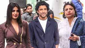 Priyanka Chopra SPOTTED With Farhan Akhtar, Mom Madhu Chopra | The Sky Is Pink Promotions [Video]