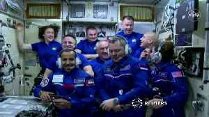 The space station welcomes a trio of new astronauts [Video]