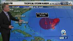 Tropical Storm Karen barely a tropical storm with an uncertain future [Video]