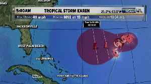 5 a.m. Thursday update on Tropical Storm Karen [Video]