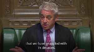 Speaker John Bercow brands Commons culture as 'toxic' [Video]