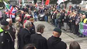 Protest forms for British soldier arraigned over a killing [Video]