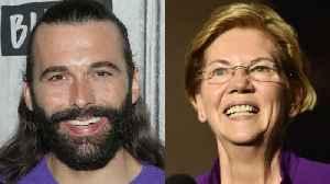 Jonathan Van Ness Endorses Elizabeth Warren for President [Video]