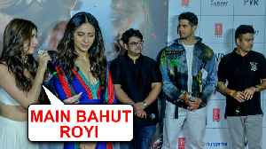 Tara Sutaria Gets EMOTIONAL On Stage With Sidharth Malhotra | Marjaavaan Trailer Launch [Video]