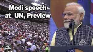 Modi speech at  UN, Preview [Video]