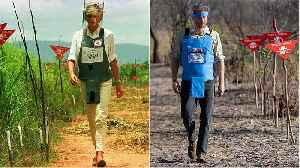 Prince Harry follows in footsteps of his mum Princess Diana to clear Angola landmine 22 years later [Video]