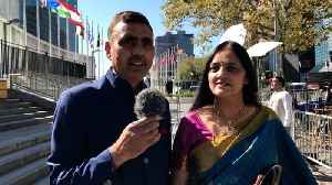 #UNGA74 Indians react to Prime Minister Narendra Modi's address [Video]