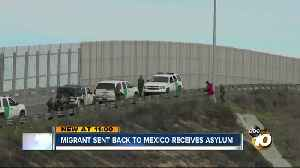 Migrant who was sent back to Mexico granted asylum [Video]