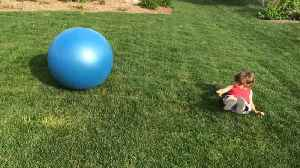 Brother Accidentally Hurts Younger Sister While Playing With Stability Ball [Video]