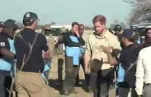 News video: Britain's Prince Harry detonates mine in Angola