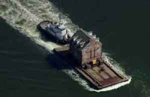 Historic mansion relocated by barge in Maryland [Video]